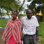 Mentor Solomon with Mary, who finished vocational training